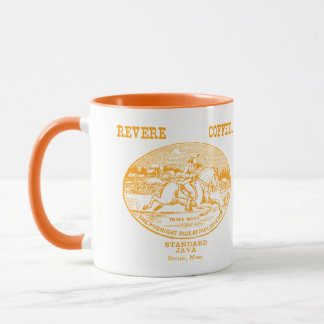 19th C. Revere Coffee of Boston, orange Mug