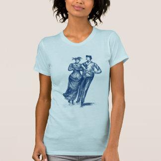 19th C. Roller Skaters, blue T-Shirt