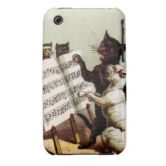 19th C. Singing Cats iPhone 3 Case