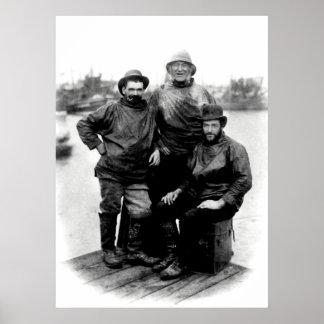 19th C. Smiling Fishermen Poster