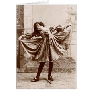19th C. The Curtsy Card