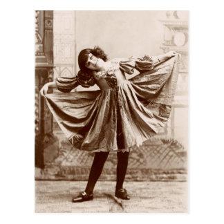 19th C. The Curtsy Postcard