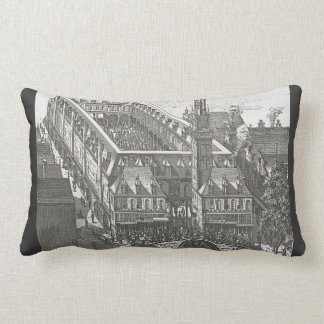 19th century, Amsterdam Bourse Throw Pillow