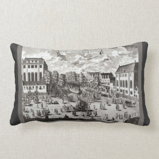 19th century,Amsterdam, Portuguese synagogue Throw Pillow