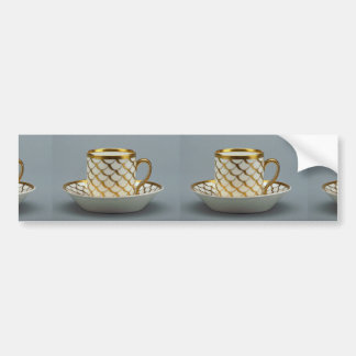 19th century coffee cup and saucer, Paris, France Car Bumper Sticker