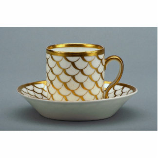 19th century coffee cup and saucer, Paris, France Standing Photo Sculpture