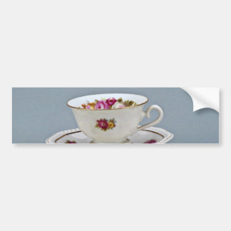 19th century coffee cup and saucer, Rosenthal Car Bumper Sticker