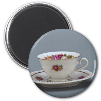 19th century coffee cup and saucer, Rosenthal, Ger Fridge Magnet