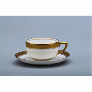 19th century coffee cup and saucer, Rosenthal, Ger Standing Photo Sculpture