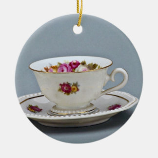 19th century coffee cup and saucer, Rosenthal Ornament