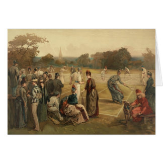 19th Century Game of Women's Lawn Tennis from 1887 Card