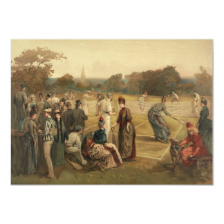 19th Century Game of Women's Lawn Tennis from 1887 Invites