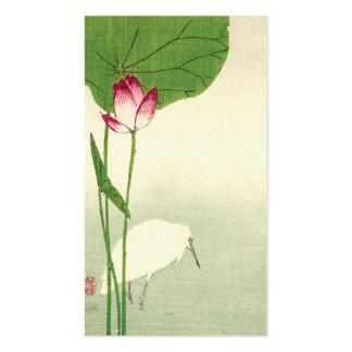 19th Century Japanese Bird Business Card Template