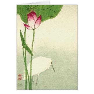 19th Century Japanese Bird Card