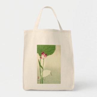 19th Century Japanese Bird Grocery Tote Bag