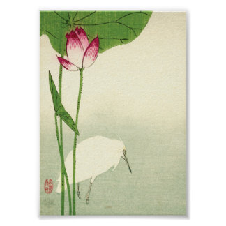 19th Century Japanese Bird Poster