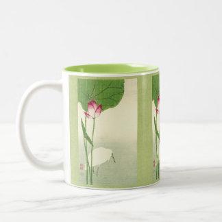 19th Century Japanese Bird Two-Tone Coffee Mug