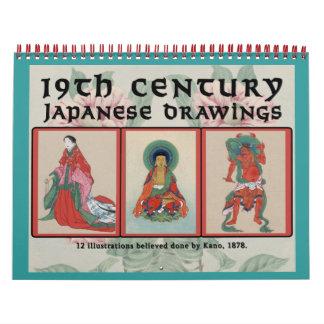 19th Century Japanese Drawings Calendar