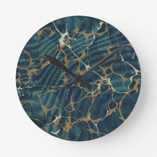 19th century marbled paper2 round clock