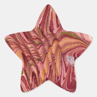 19th century marbled paper5 - peacay.jpg star sticker