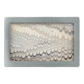 19th century marbled paper 7 Motif Belt Buckle
