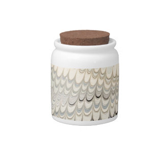 19th century marbled paper 7 Motif Candy Jar