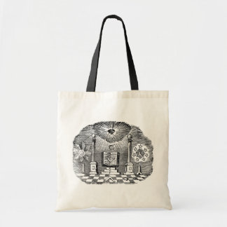 19th Century Masonic Blockcut engraving Tote Bags