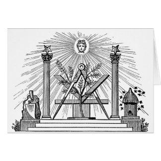 19th Century Masonic G Kenning Blockcut engraving Greeting Cards