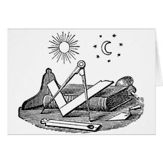 19th Century Masonic G Kenning Blockcut engraving Cards