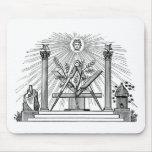19th Century Masonic G Kenning Blockcut engraving Mouse Pad