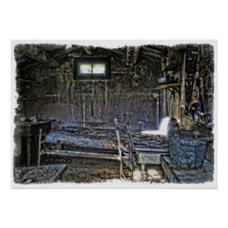 19th Century Miner's Cabin - Montana Posters