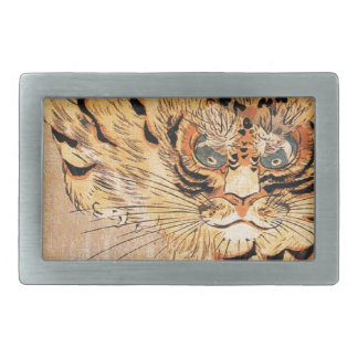19th century painting of a tiger by Kuniyoshi Utag Belt Buckles