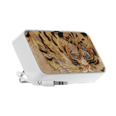 19th century painting of a tiger by Kuniyoshi Utag iPhone Speaker