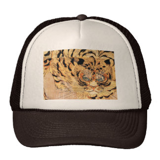19th century painting of a tiger by Kuniyoshi Utag Trucker Hat