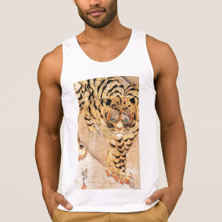 19th century painting of a tiger by Kuniyoshi Utag Tank Tops