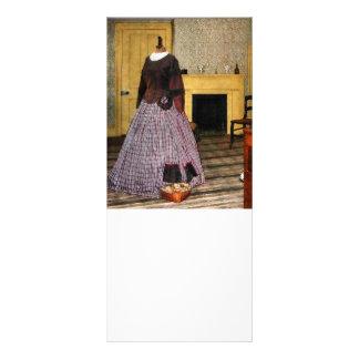 19th Century Plaid Dress Rack Card