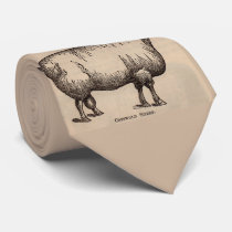 19th century print Cotswold sheep print Neck Tie