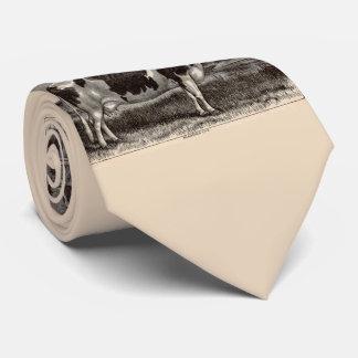 19th century print Holstein cow Neck Tie