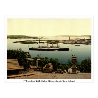 19th Century Queenstown - Cobh Harbor, Cork Postcard