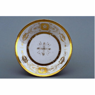 19th century saucer, France Standing Photo Sculpture