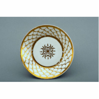 19th century saucer plate with inspiring design standing photo sculpture