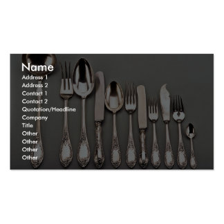 19th century silver cutlery, Warsaw, Poland Double-Sided Standard Business Cards (Pack Of 100)
