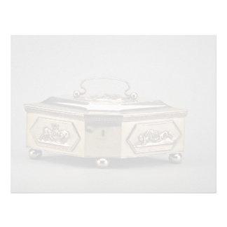 19th century silver sugar bowl, Warsaw, Poland Custom Letterhead