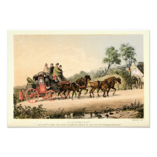 19th Century Stagecoach Photo Print