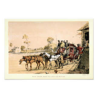 19th Century Stagecoach Photograph