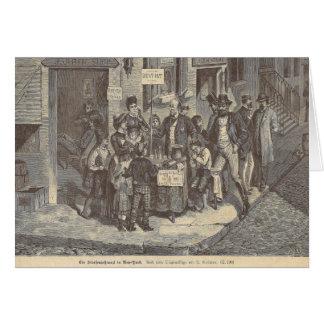 19th Century Street Dentist in New York - Antique Card