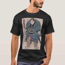 19th Century Sumo Wrestler Kagamiiwa Hamanosuke T-Shirt
