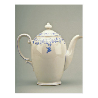 19th century teapot Berlin Germany flowers Postcard