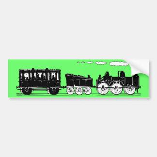 19th Century Train Car Bumper Sticker