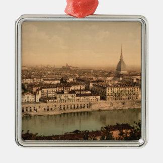 19th Century Turin , Piedmont, Italy Square Metal Christmas Ornament